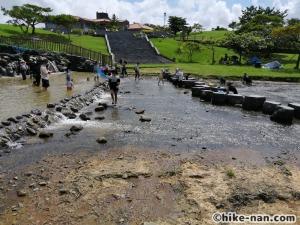 うるま市の倉敷ダム「やんばるの森(ヤンバルムイ)」水遊び体験をご紹介します!_こうやってみると意外と広いですね