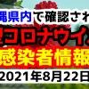 2021年8月22日に発表された沖縄県内で確認された新型コロナウイルス感染者情報一覧