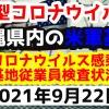 【2021年9月22日】沖縄県内の米軍基地内における新型コロナウイルス感染状況と基地従業員検査状況