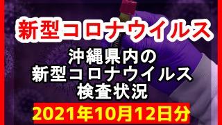 【2021年10月12日分】沖縄県内で実施されている新型コロナウイルスの検査状況について