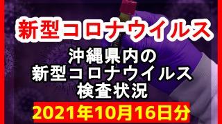 【2021年10月16日分】沖縄県内で実施されている新型コロナウイルスの検査状況について