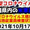 【2021年10月17日】沖縄県内の米軍基地内における新型コロナウイルス感染状況と基地従業員検査状況