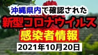 2021年10月20日に発表された沖縄県内で確認された新型コロナウイルス感染者情報一覧